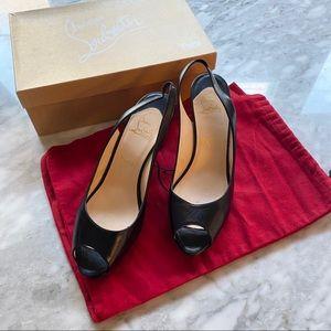 New Louboutin No Prive 90 slingback heels